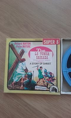 Pelicula Cine Super 8 mm La Tunica Sagrada Richard Burton Victor  Mature