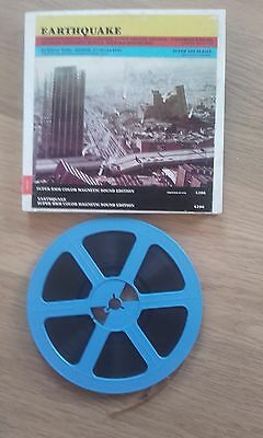 Pelicula Cine Super 8 mm Earthquake Terremoto Charlton Heston Sonora Color