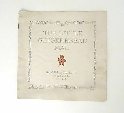 1923 Royal Baking Powder The Little Gingerbread Man Story & Recipes