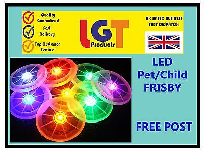 Flying LED Light Up Frisbee Outdoor Multi Color Toys Pet Children Fun Frisby