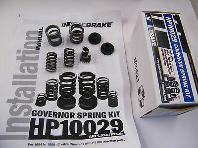 3000/4000 RPM Governor Spring kit and (12) 60# valve springs for Intake and exh