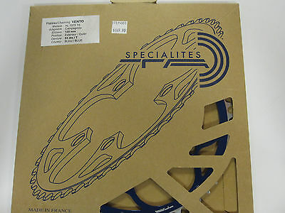 NOS blue Specialites TA Vento Chainring 53T 135BCD for Campagnolo 9-speed