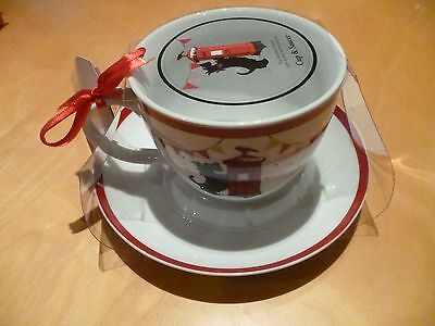 The Scottish Terrier Scottie Dog Cup and Saucer New Tags  Xmas