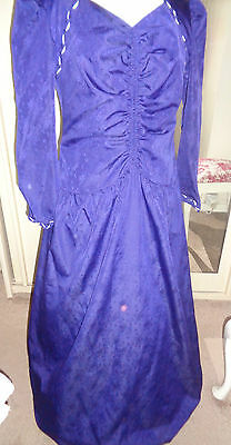 """Vintage Size 14 Victorian  Dress And Hooped Underskirt Ex Hire """"purple """""""