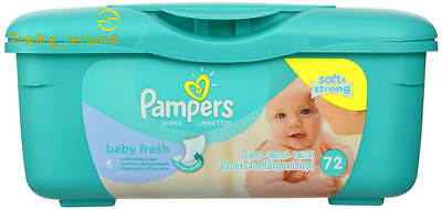 Pampers Baby Tub Fresh Scented Wipes Clean Gently 72-Count