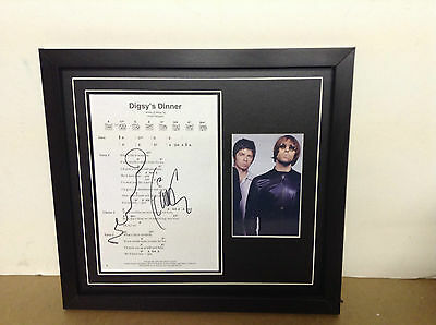 Noel & Liam (Oasis) Hand signed songsheet with Photo and COA