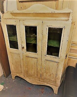 antique painted pine cupboard