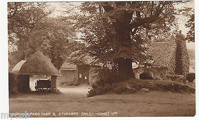 Postcard Old Farm Yard and Studland Green near Poole Dorset RP by Judges 5140