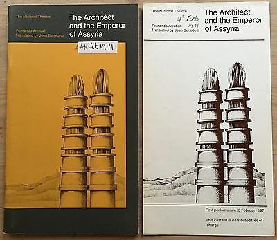 Anthony Hopkins THE ARCHITECT & THE EMPEROR OF ASSYRIA Jim Dale 1971 PROGRAMME