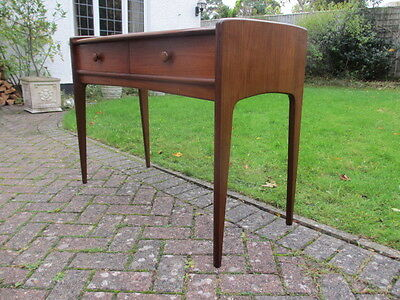 Vintage Retro Younger Afromosia Desk Side Table Danish Style Mid Century
