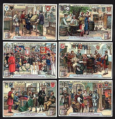 Guilds In The Middle Ages Card Set 1907 Bookmaker Baker Brewer Textiles Smithy