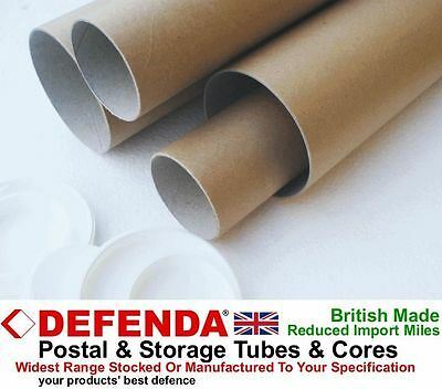 "10 x 9.4"" 240mm LONG x 2"" 50mm DIAMETER A4 Postal Tubes Posting Posters Prints"