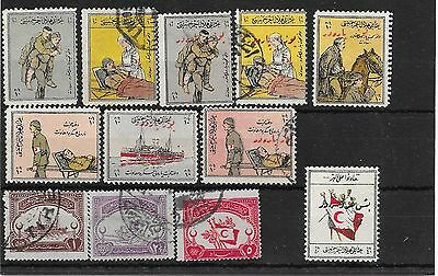 Turkey 1914-18 WW1 charity stamp selection mostly used