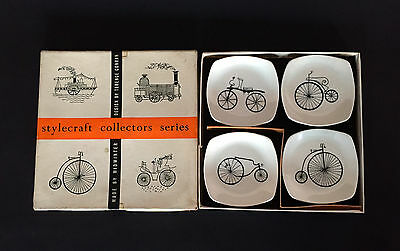 Vint. Midwinter Stylecraft 'Collectors Series' Pin Dish x 4 Terence Conran 1950s