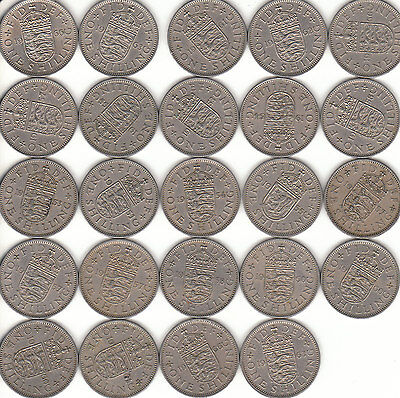 English  One  Shillings  Coins  1947 To  1966  Coin Hunt