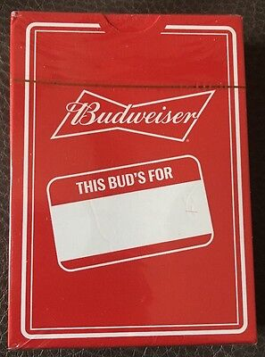 New In wrap Red Budweiser This Bud's For You logo Deck Of playing cards