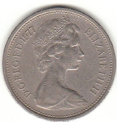 OLD 5p COINS 1968 to 1989 5 NEW PENCE 1977 LOOK