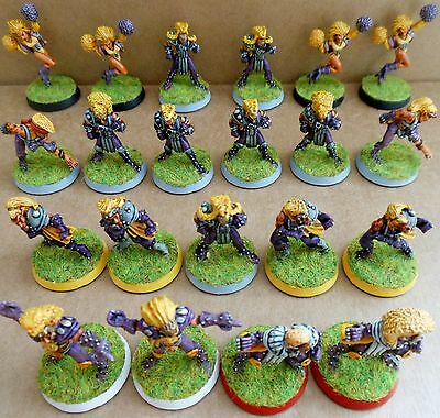 1988 Wood Elf Bloodbowl 2nd Edition Citadel Pro Painted Team Fantasy Wood Elves