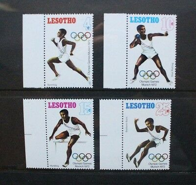 LESOTHO 1972 Olympic Games Munich. Set of 4. Mint Never Hinged. SG223/226.