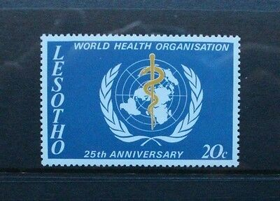 LESOTHO 1973 WHO World Health Organisation. Set of 1. Mint Never Hinged. SG230