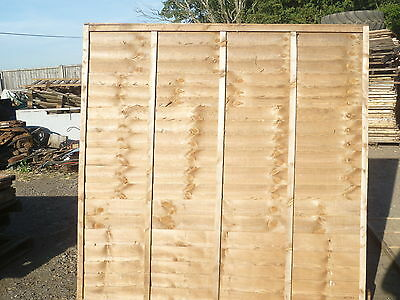 10 x 6ft wide  x4ft high larch lap wooden fencing panel