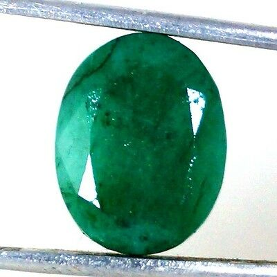 5.90Cts Finest Green  Natural Rare  Brazilian Emerald Oval Cut Cabochon Gemstone