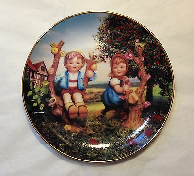 """M.J. Hummel plate - """"Apple Tree Boy and Girl"""" from Little Companions Ltd Edition"""