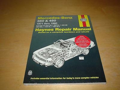 Haynes MERCEDES R107 C107 350 450 COUPE ROADSTER Owners Service Manual Handbook