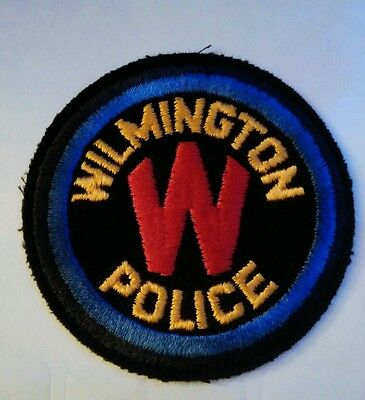 Vintage WILMINGTON  (USA) POLICE PATCH fabric embroidered sew on