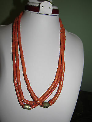 74 gram originall coral Antique necklace Real natural undyed coral