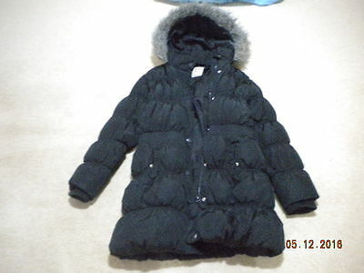 Girls Black Padded Puffa Quilted Winter Coat by NEXT. Age 11 / 12 years.