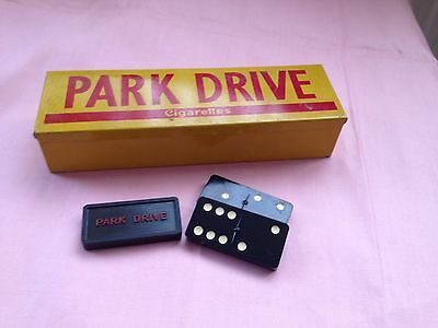 Vintage Promotional Dominoes Set In Park Drive Tin