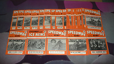 SPEEDWAY & ICE NEWS Magazine - 35 issues from 1951