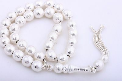 925 Sterling Silver Islamic Prayer 33 Beads Turkish Tesbih Tasbeeh .
