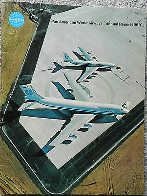 Pan Am 36 Page Annual Report 1968 - Boeing 747 Interest
