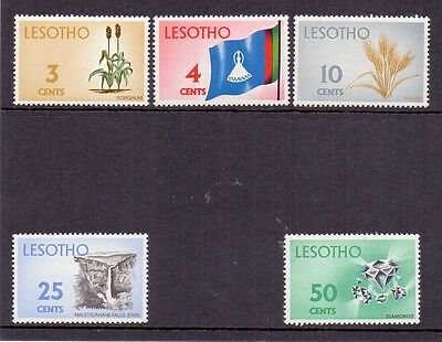 Lesotho. 5 mint never hinged stamps issued 1971