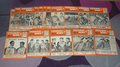 SPEEDWAY & ICE NEWS Magazine - 17 issues from 1954