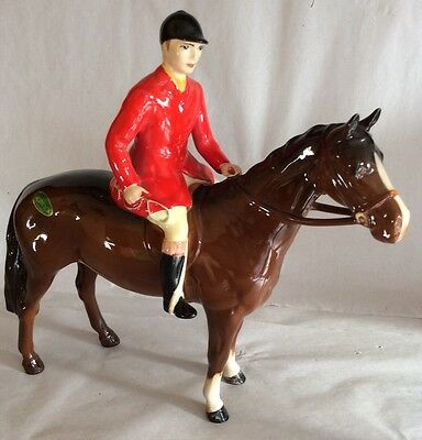 Beswick Huntsman On Horse