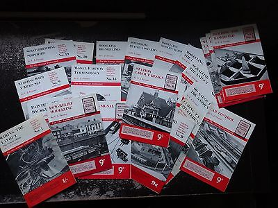 22 RAILWAY MODELLER INFORMATION BOOKLETS from the 1950's