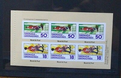 GRENADA GRENADINES 1978 Coronation. BOOKLET PANE. Mint Never Hinged. SG276a.