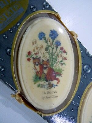 Vintage Pictorial Soaps - The fox cubs by Rene Cloke Bovey Trasey Devon England