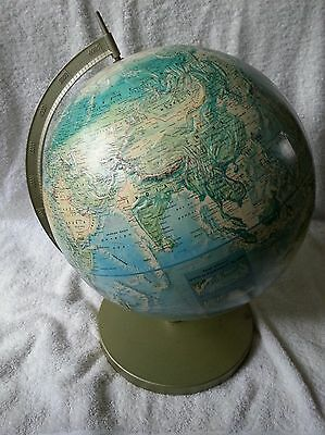 Rand Mcnally World Portrait Desk Globe With Metal Base Stand Made In Usa Vguc