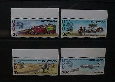 BOTSWANA 1974 UPU Centenary Aircraft. Set of 4. Mint Never Hinged. SG318/321.