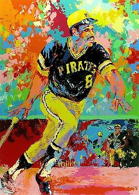 Great Willie Stargell 13X19 Print On Textured Canvas