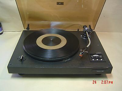 Lenco L 450 Turntable with Pitch adjustment and Stoboscope. Swiss Made