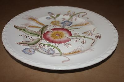 """Harmony House for Sears Roebuck 9 1/2"""" Plate Wheat & Flowers Mad in California"""