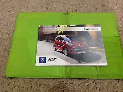 Peugeot 107 Owners Manual  Handbook 2005-2009 Petrol And Diesel Wallet