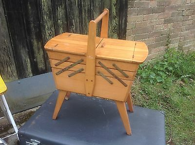 Vintage Retro Cantilever Sewing Box