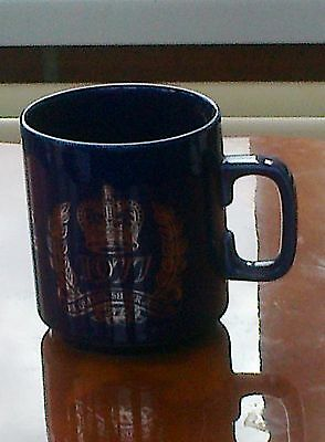 Blue Mug Commemorating The Silver Jubilee Of Queen Elizaeth Ii