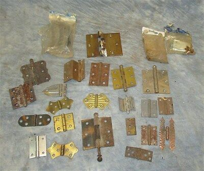 24 Hinges Door Cabinet Vintage Architectural Salvage Reclaimed Hardware Lot k